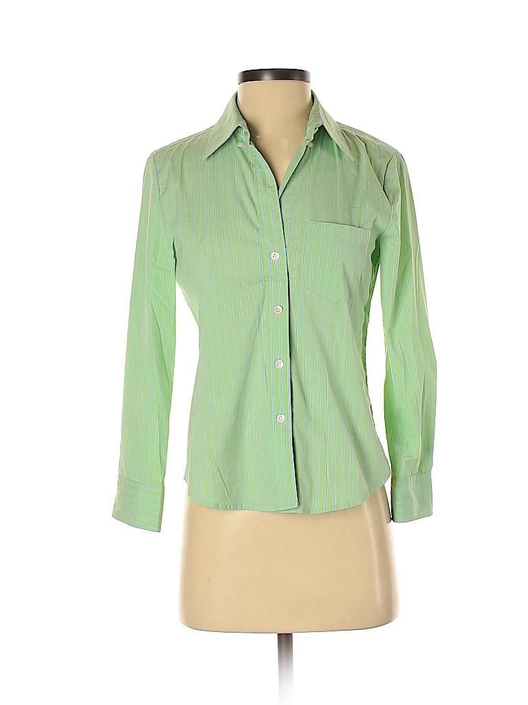 Theory Women 3/4 Sleeve Button-Down Shirt Size S