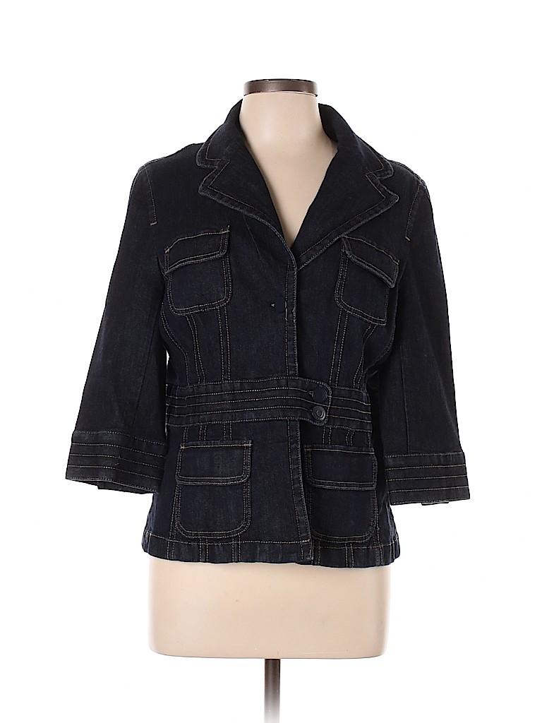 Ann Taylor Women Denim Jacket Size 14
