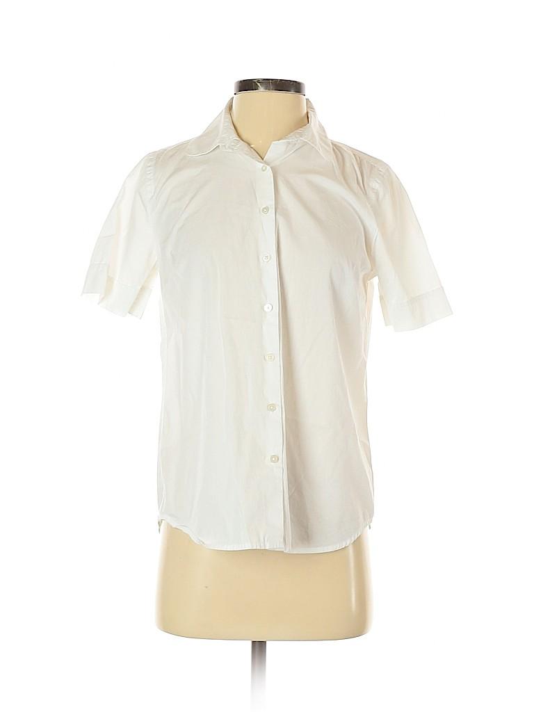 Ann Taylor LOFT Women Short Sleeve Button-Down Shirt Size S