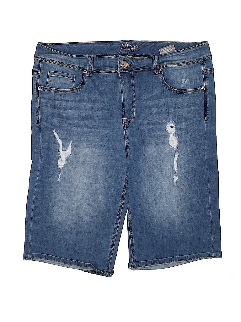 Seven7 Women Denim Shorts Size 18W (Plus)