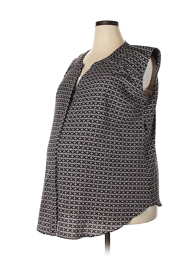 Motherhood Women Short Sleeve Blouse Size 1X (Maternity)