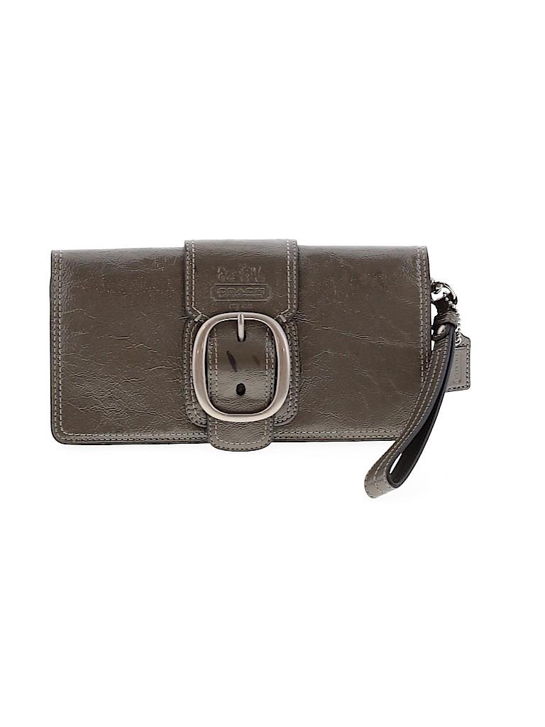 Coach Women Leather Wristlet One Size