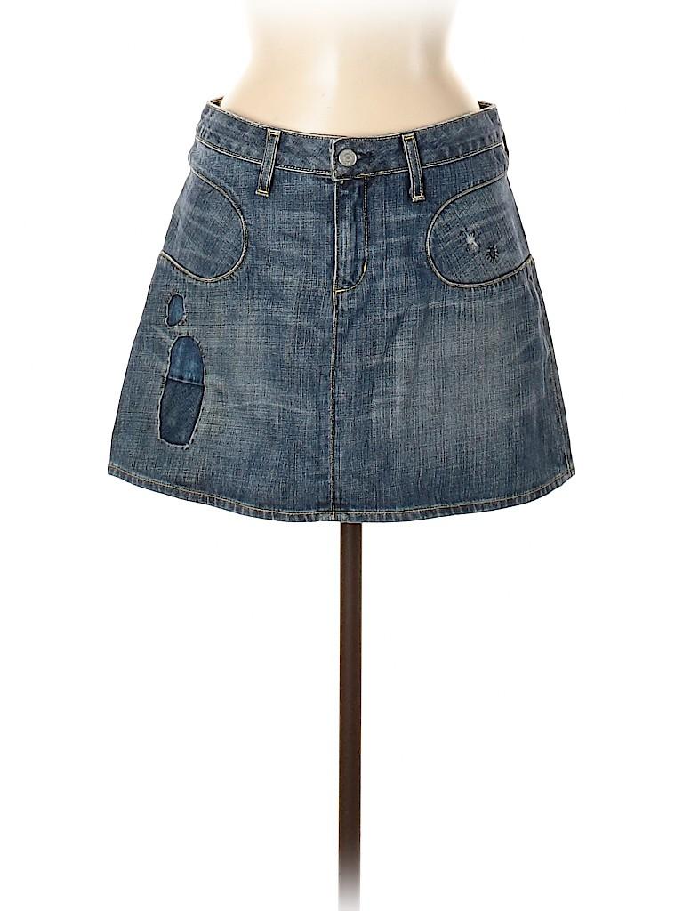 Paper Denim & Cloth Women Denim Skirt 28 Waist