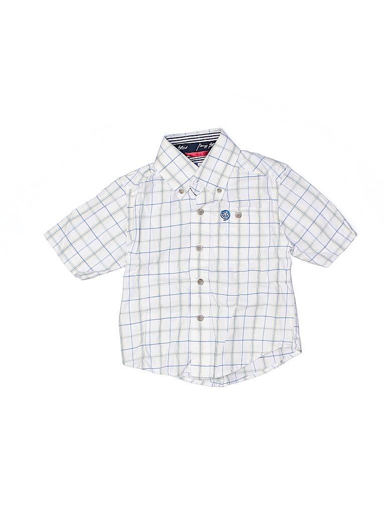 Wrangler Jeans Co Boys Short Sleeve Button-Down Shirt Size XX-Small  kids