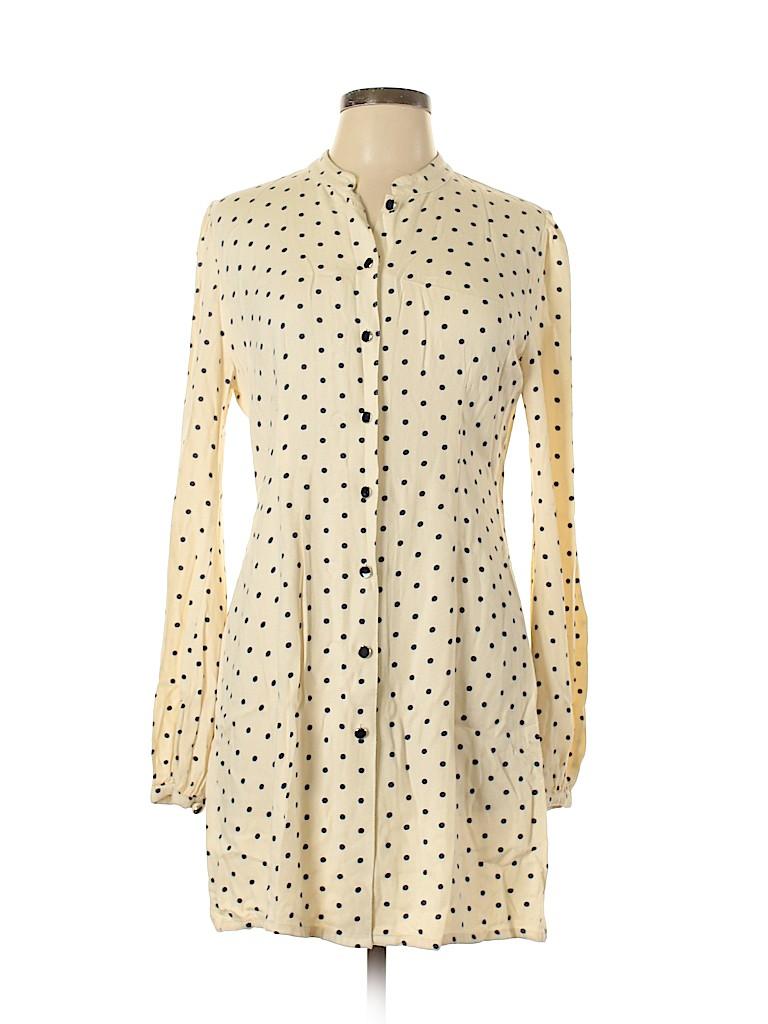 Topshop Women 3/4 Sleeve Button-Down Shirt Size 12