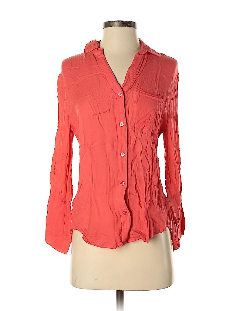 Bella Dahl Women Long Sleeve Button-Down Shirt Size XS