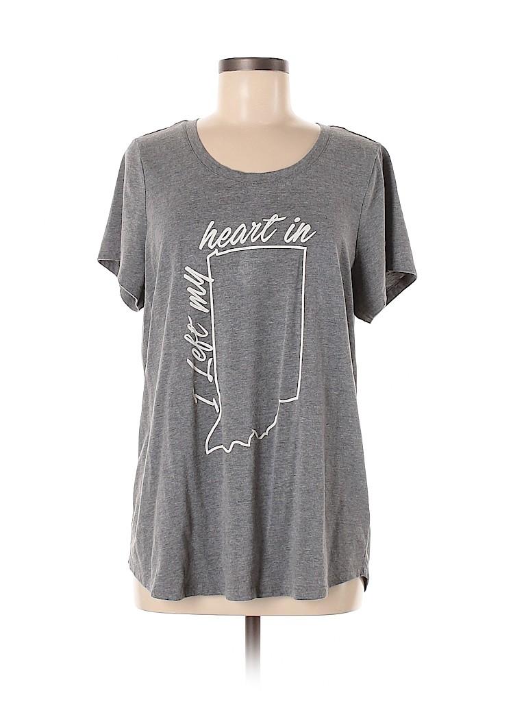 Maurices Women Short Sleeve T-Shirt Size 16 (1)