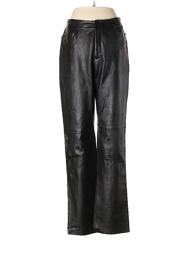 Linda Allard Ellen Tracy Women Leather Pants Size 8
