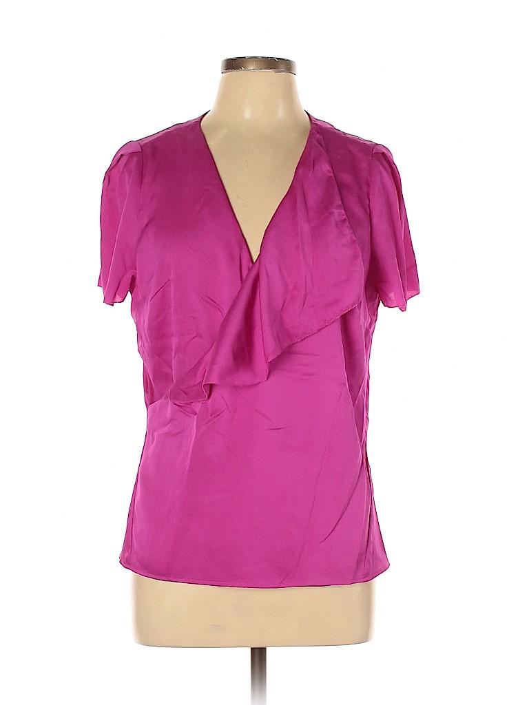 Ann Taylor Women Short Sleeve Blouse Size 12