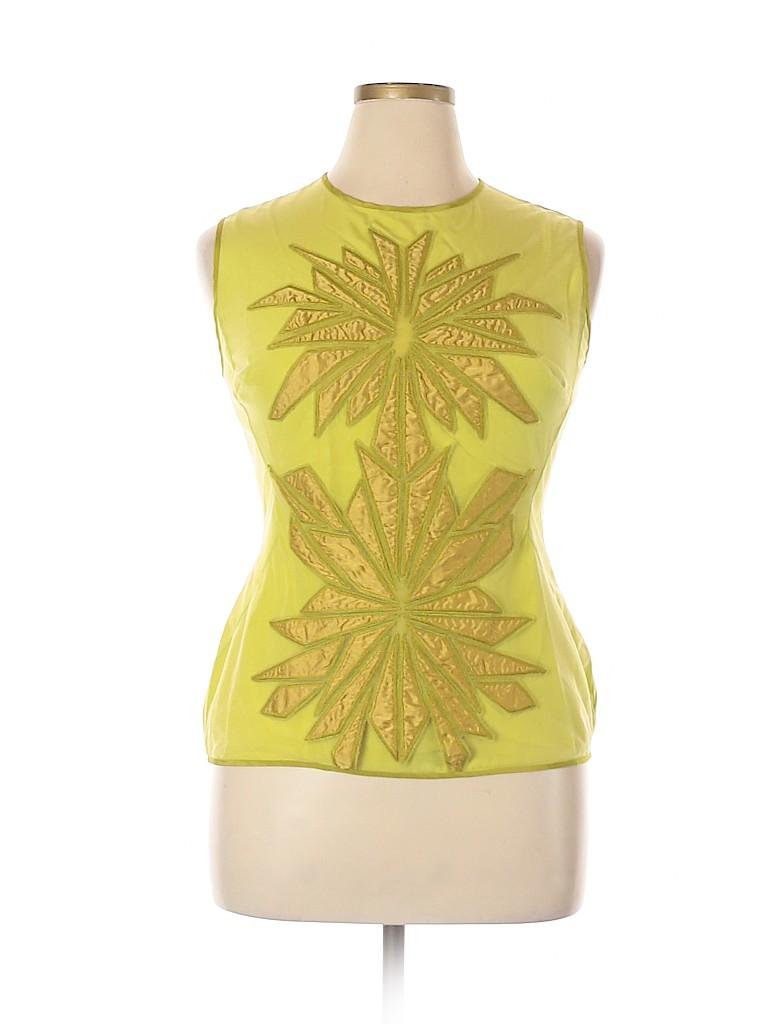 Bibhu Mohapatra Women Sleeveless Silk Top Size 14