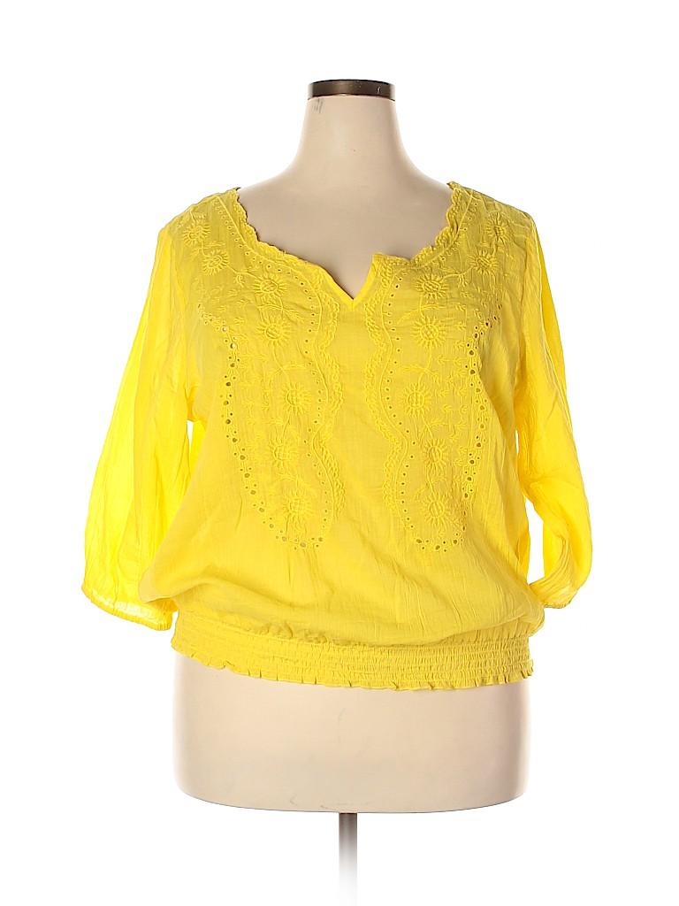 Old Navy Women 3/4 Sleeve Blouse Size XXL