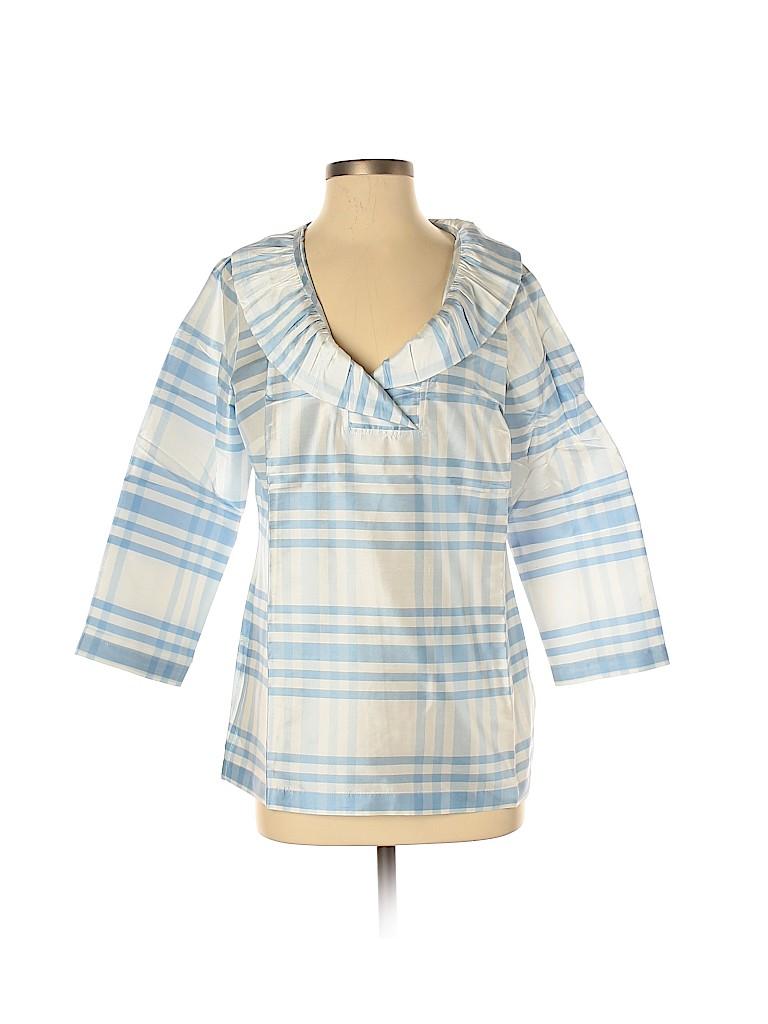 Devon Baer Women 3/4 Sleeve Silk Top Size M