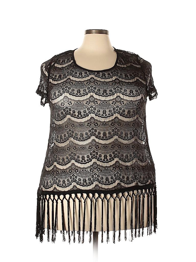 Forever 21 Plus Women Short Sleeve Blouse Size 1X (Plus)