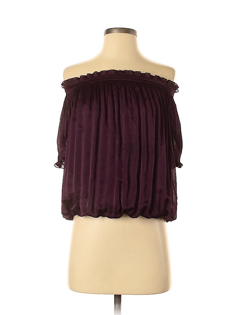 Diane von Furstenberg Women Short Sleeve Blouse Size 0