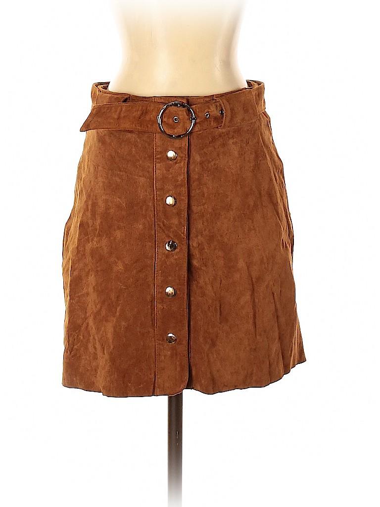 Zara Women Leather Skirt Size S