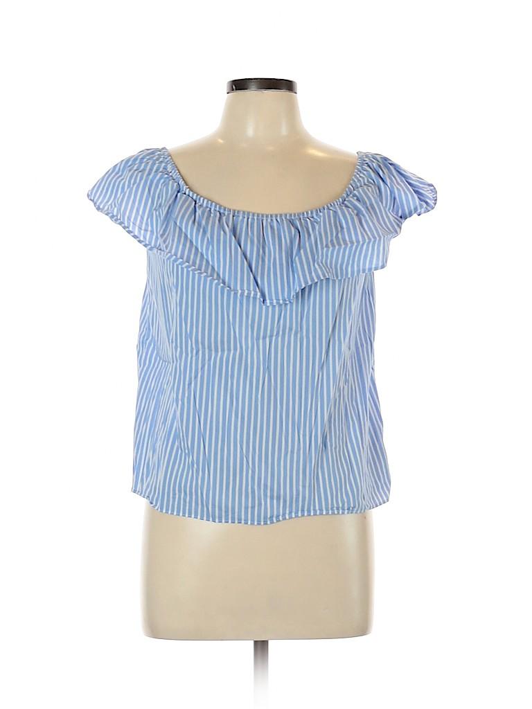 I.N. San Francisco Women Short Sleeve Top Size L