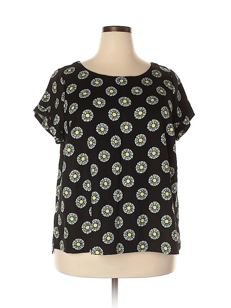 ModCloth Women Short Sleeve Blouse Size 2X (Plus)