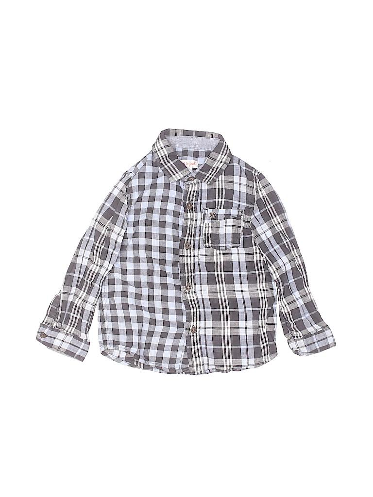 Cat & Jack Boys Long Sleeve Button-Down Shirt Size 4T