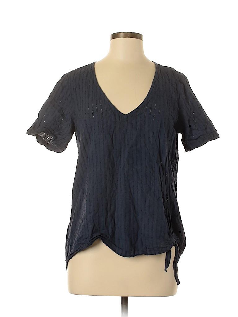 Cloth & Stone Women Short Sleeve Blouse Size M