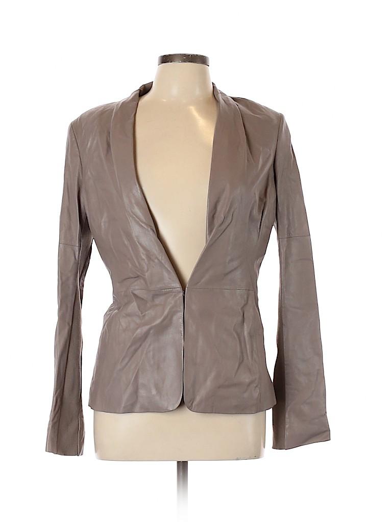 Halston Heritage Women Leather Jacket Size 10
