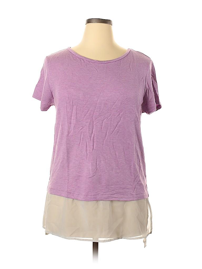 Halogen Women Short Sleeve Top Size XL