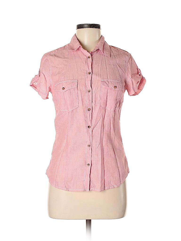 Gap Women Short Sleeve Button-Down Shirt Size 6