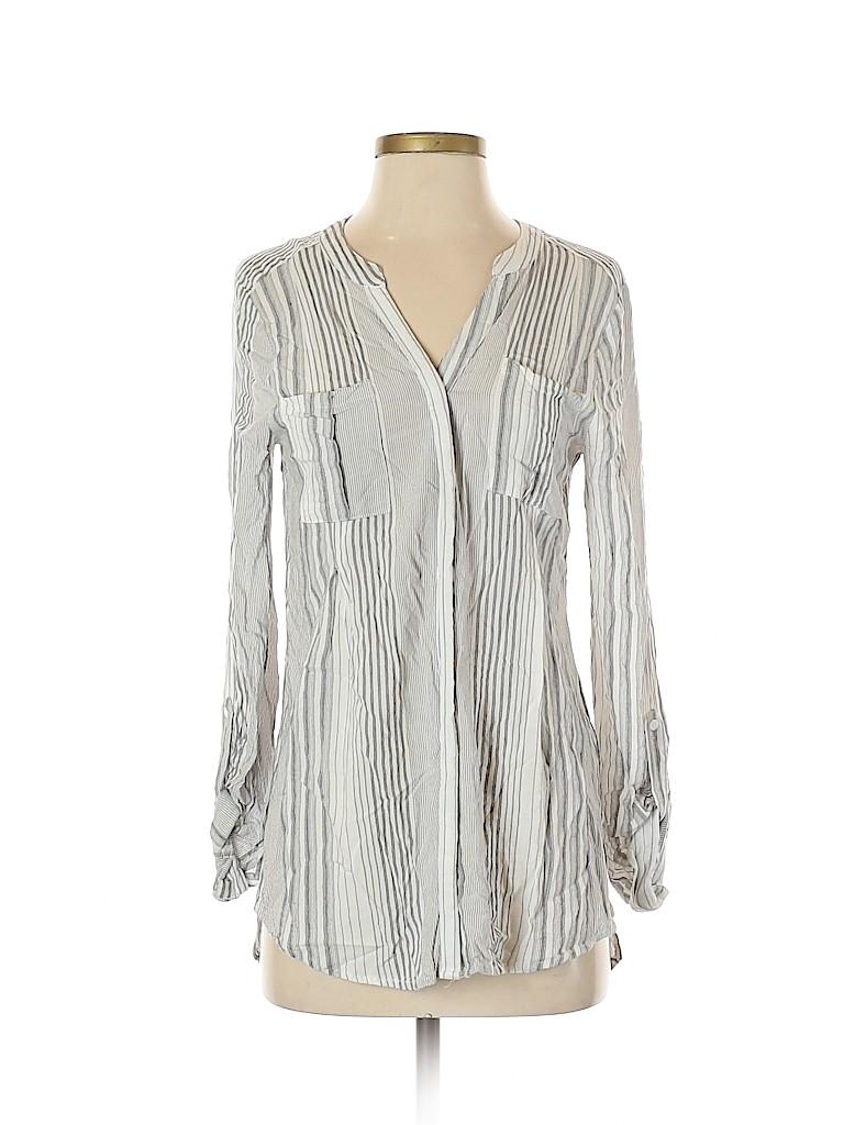 Mystree Women Long Sleeve Button-Down Shirt Size S