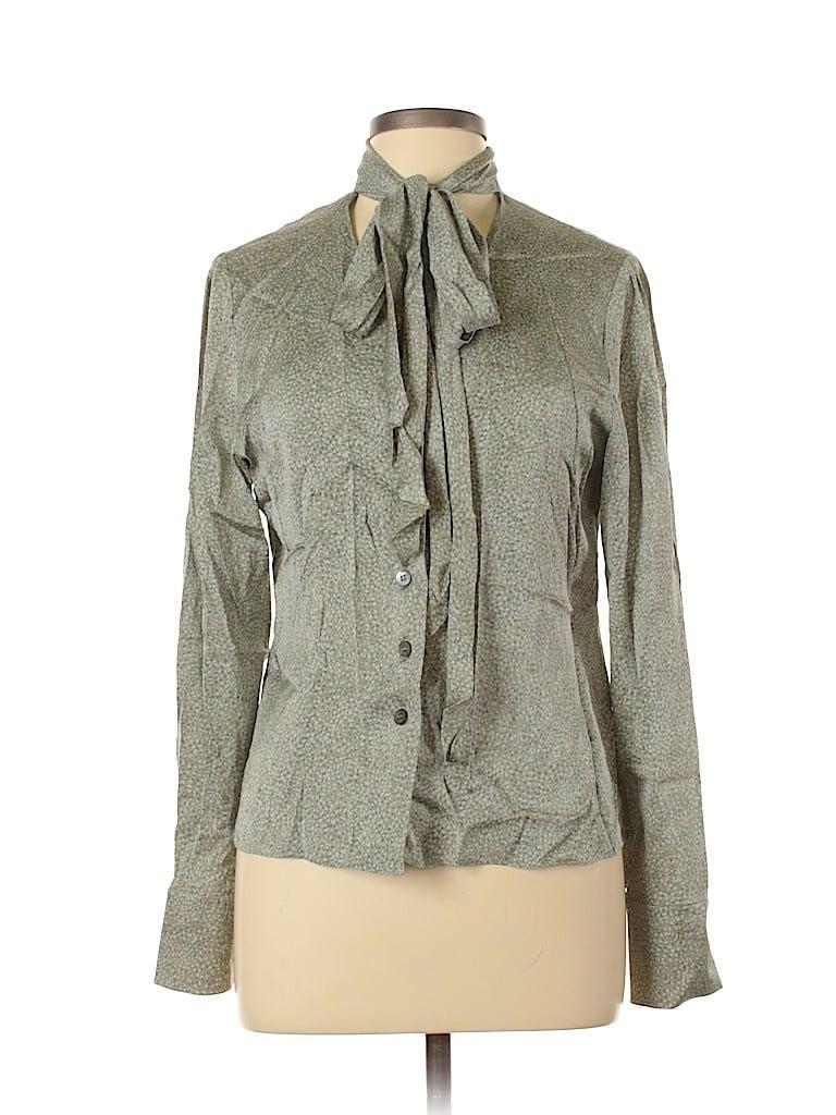 Linda Allard Ellen Tracy Women Long Sleeve Silk Top Size 12