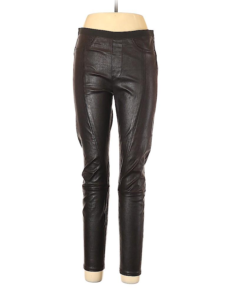 HELMUT Helmut Lang Women Leather Pants Size 12