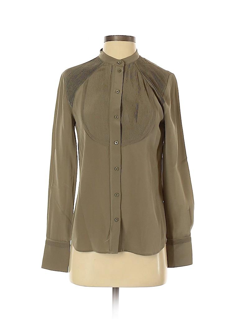 Vanessa Bruno Women Long Sleeve Silk Top Size 36 (EU)