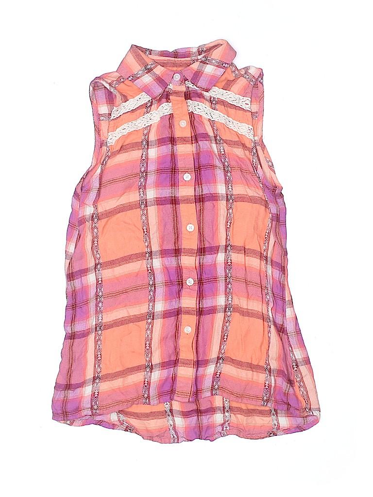 Mudd Girls Girls Sleeveless Button-Down Shirt Size 8