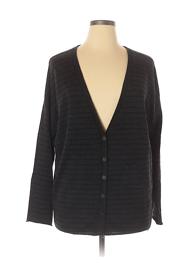 Eileen Fisher Women Wool Cardigan Size L