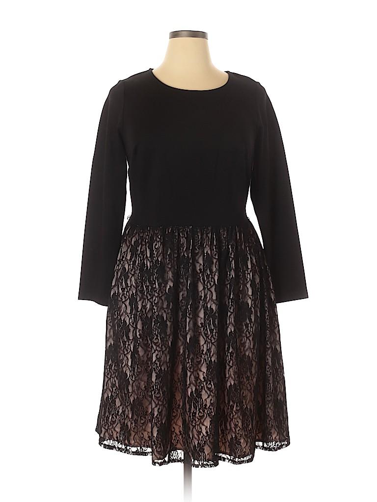 Liza Luxe Women Cocktail Dress Size 1X (Plus)