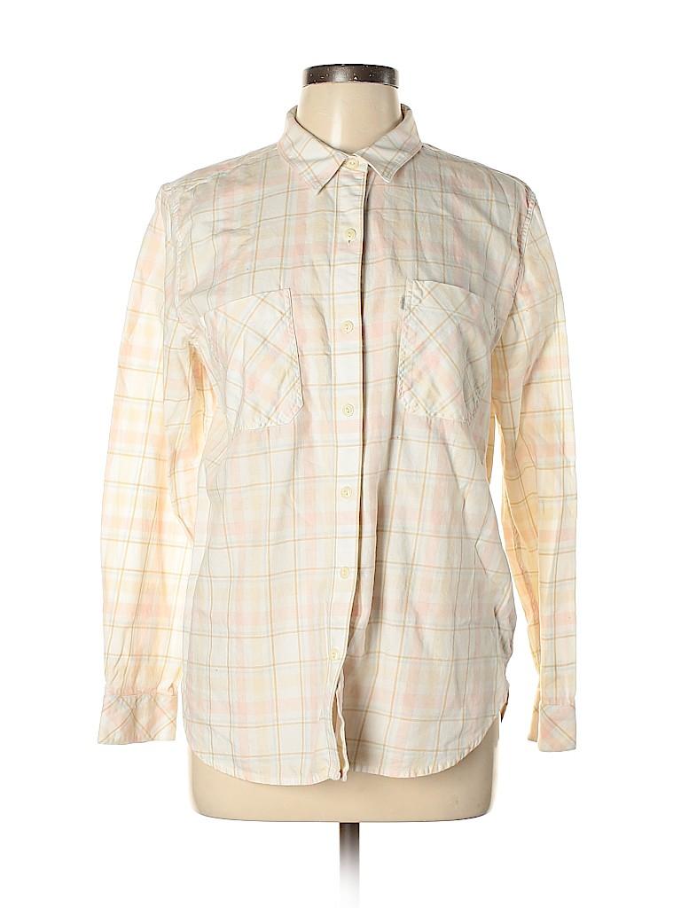 Levi's Women Long Sleeve Button-Down Shirt Size L