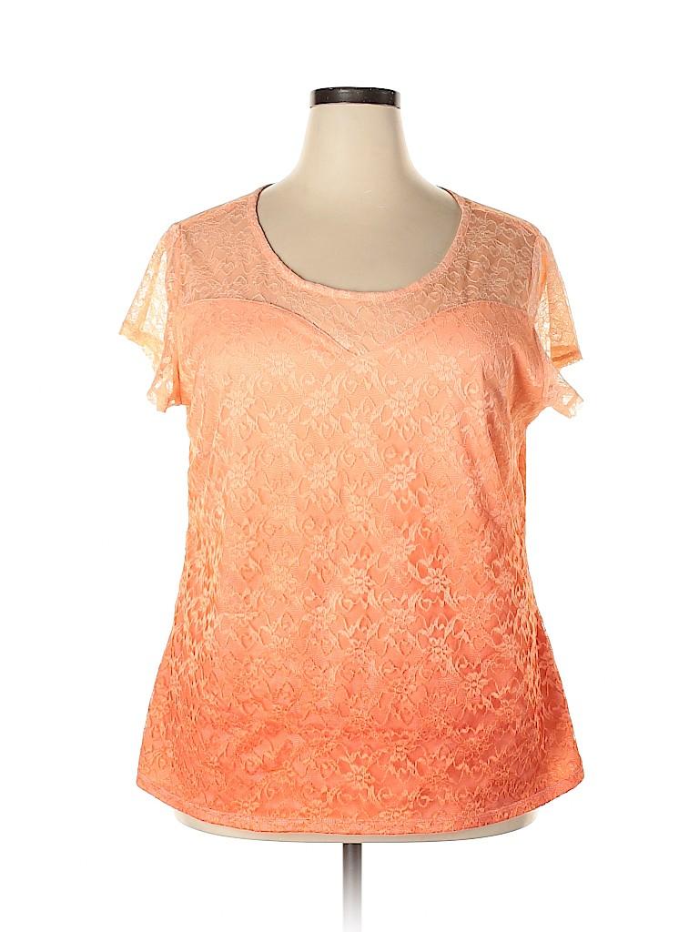 Cato Women Short Sleeve Blouse Size 22 - 24 (Plus)