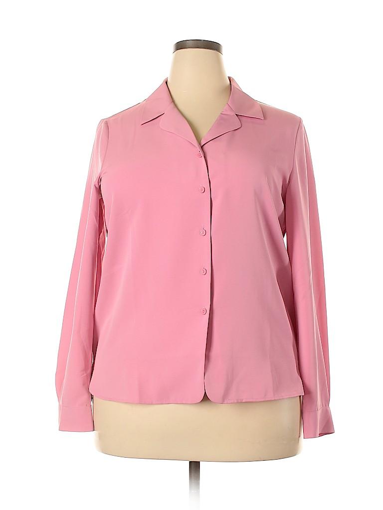 Liz Baker Women Long Sleeve Blouse Size 16
