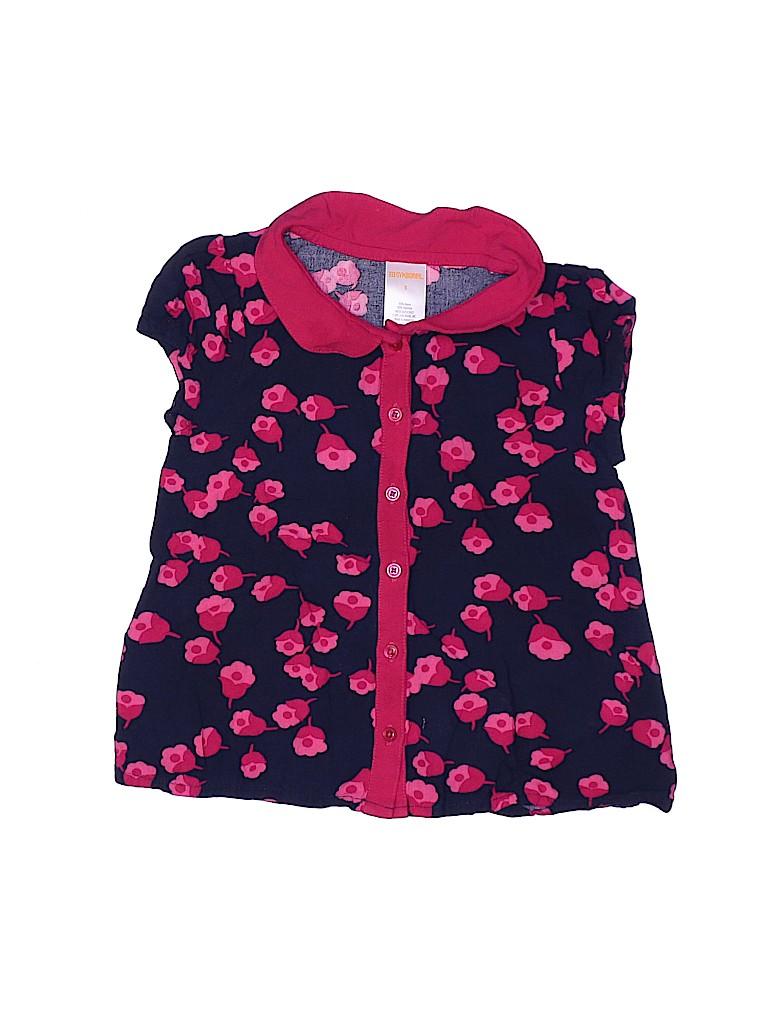 Gymboree Girls Short Sleeve Button-Down Shirt Size 5