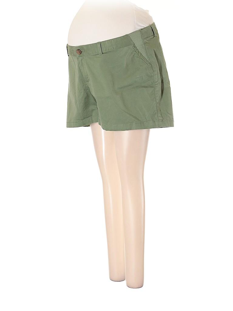 Gap - Maternity Women Khaki Shorts Size 12 (Maternity)