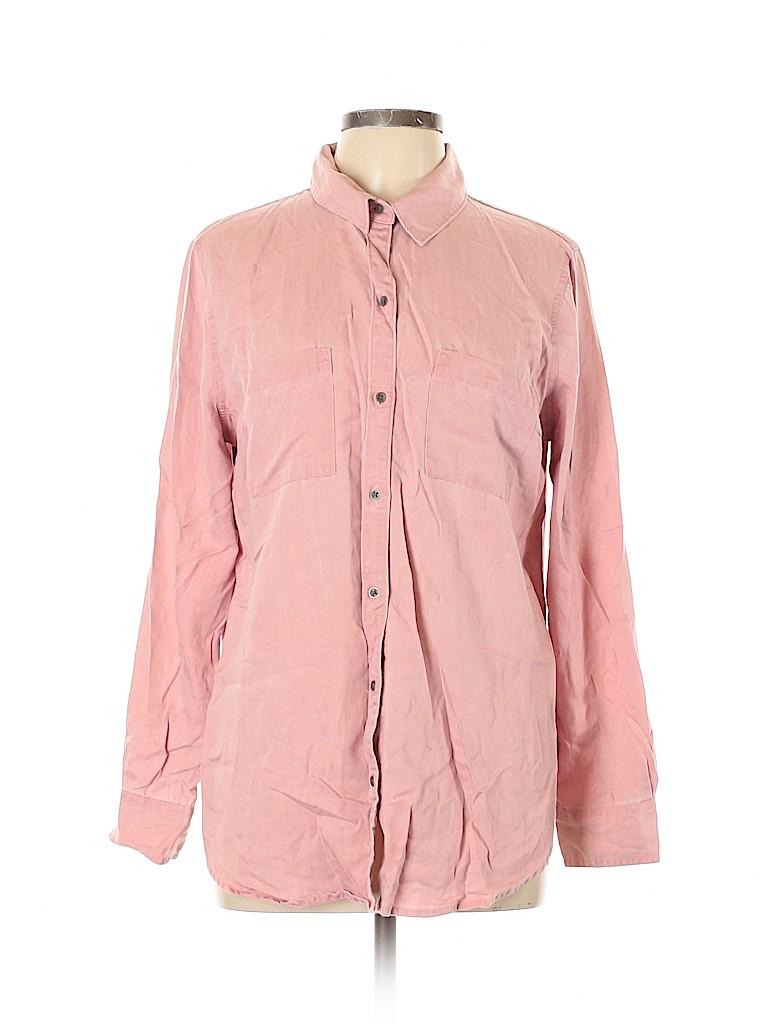 Old Navy Women Long Sleeve Button-Down Shirt Size L