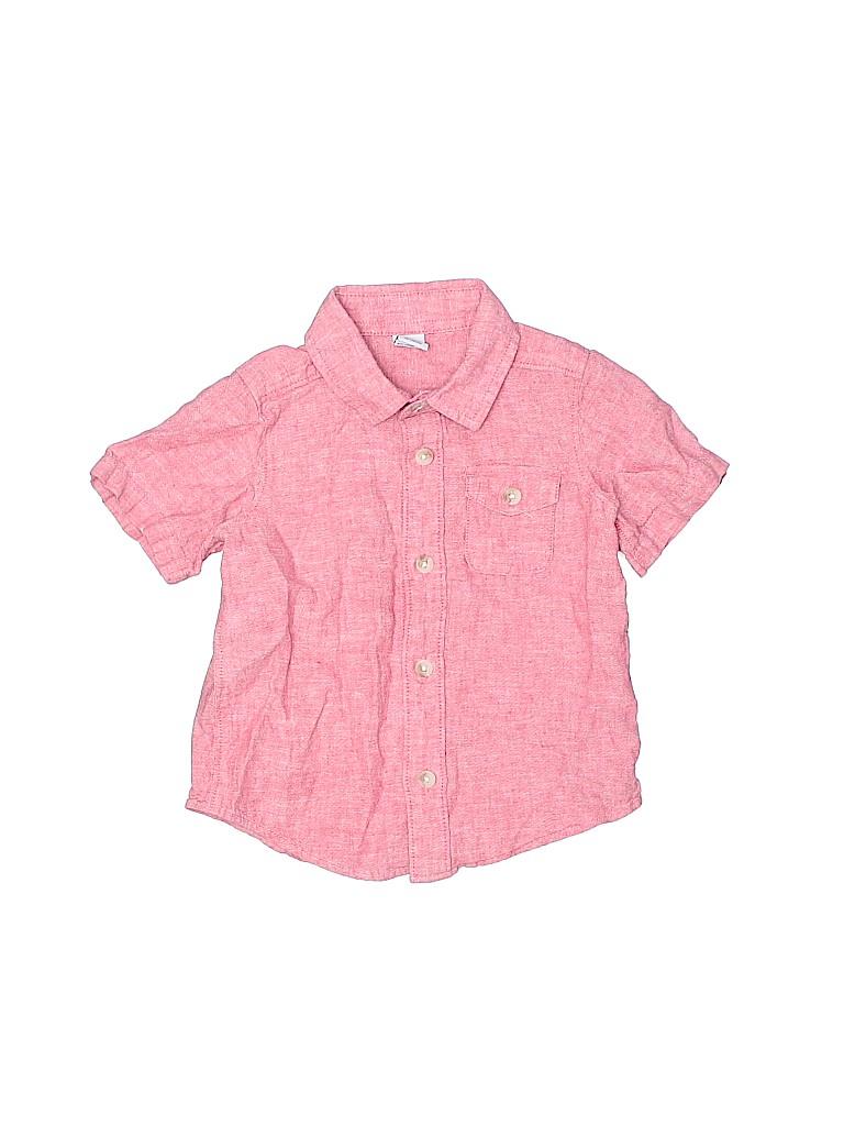 Old Navy Boys Short Sleeve Button-Down Shirt Size 18-24 mo