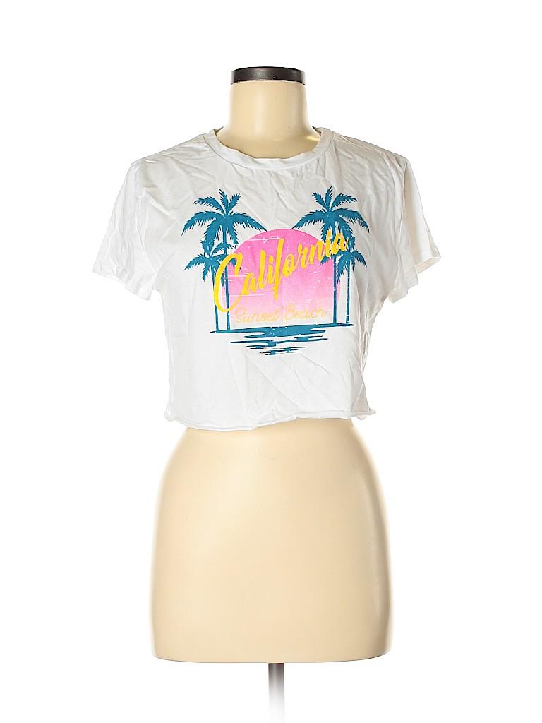 Charlotte Russe Women Short Sleeve T-Shirt Size M