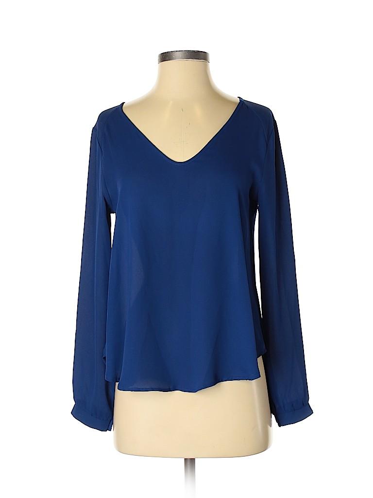 Lush Women Long Sleeve Blouse Size XS
