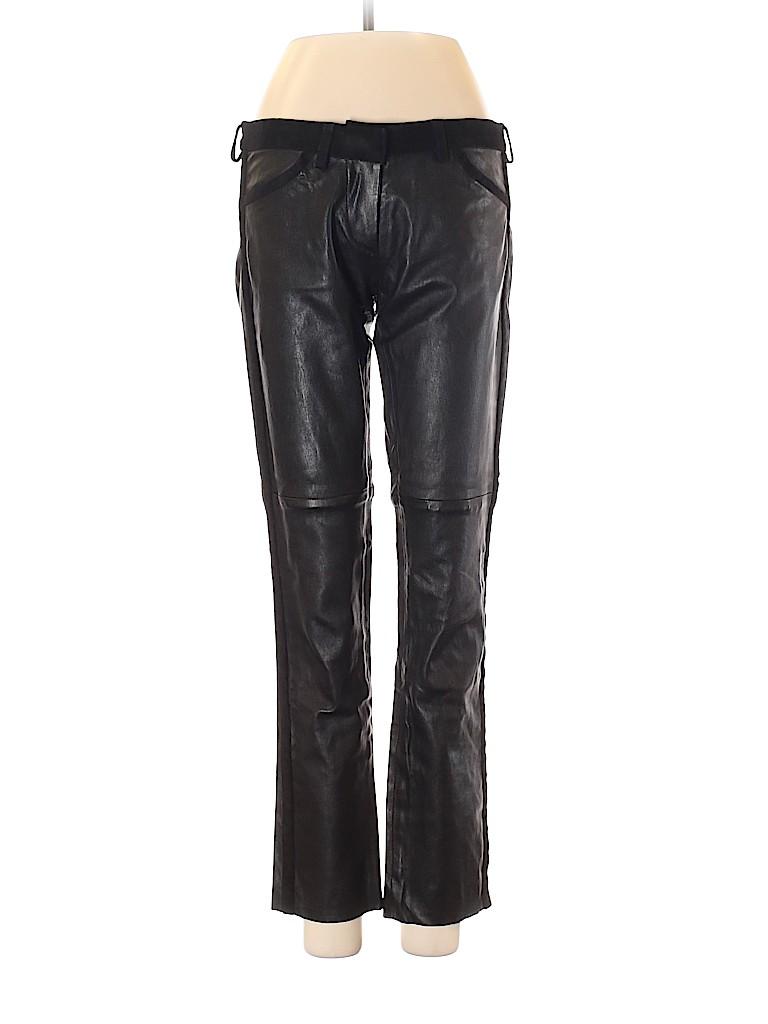 Isabel Marant Women Leather Pants Size XS (0)