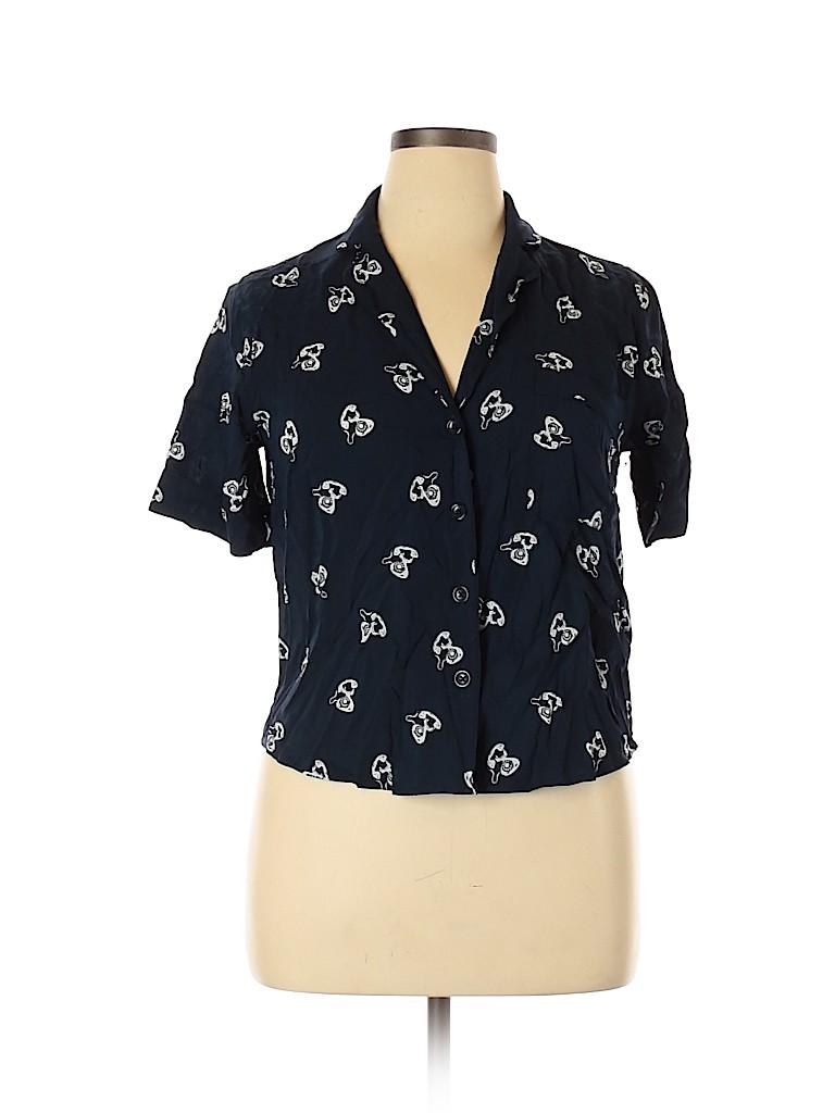 Forever 21 Women Short Sleeve Blouse Size XL