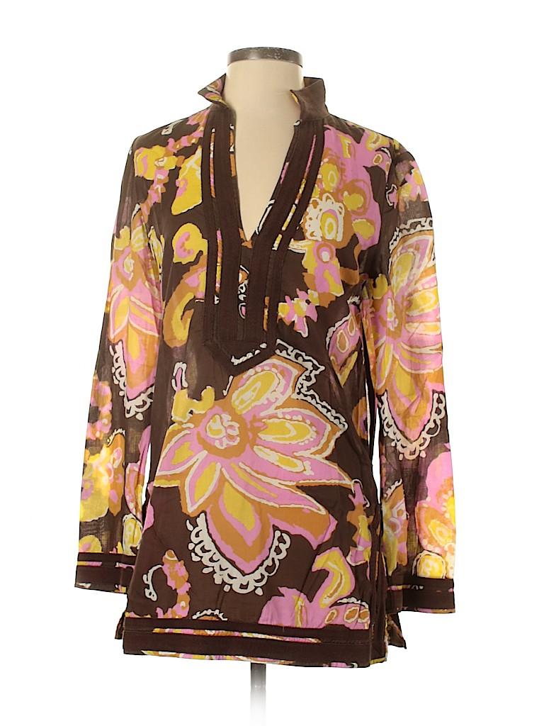 Tory Burch Women 3/4 Sleeve Blouse Size 4