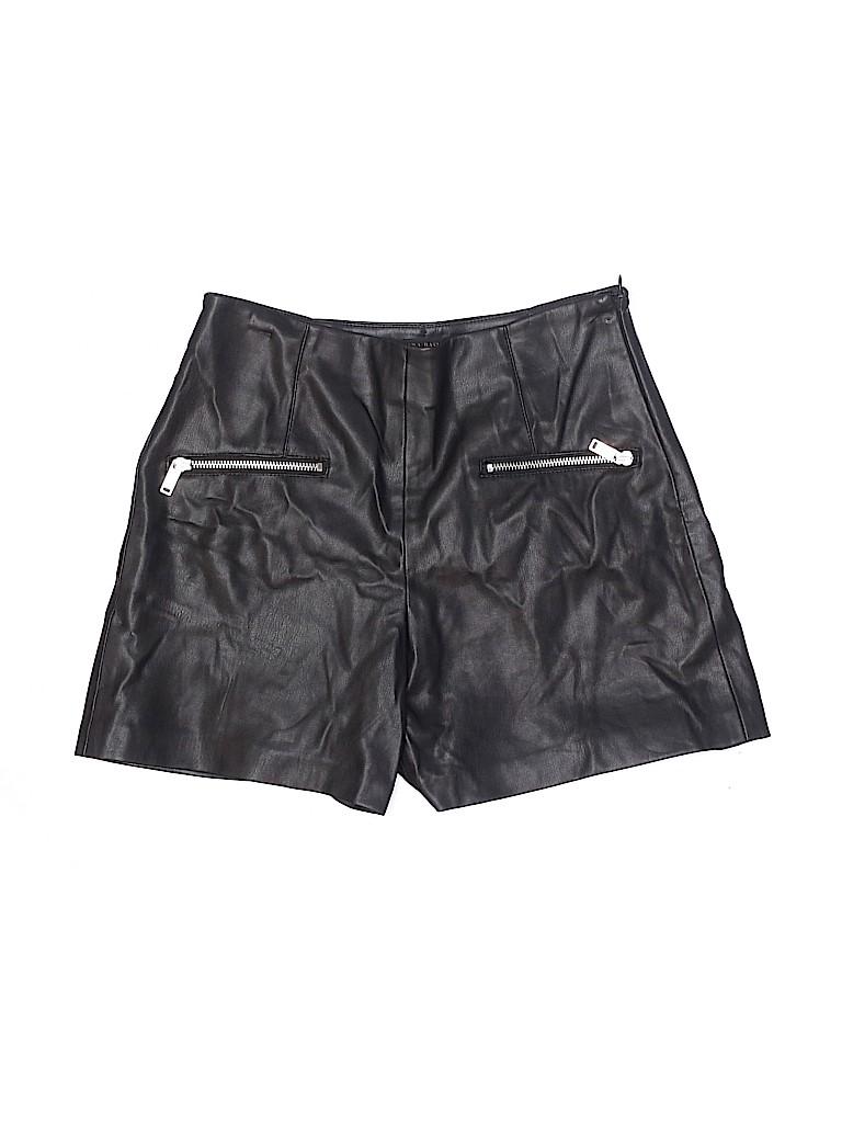 Zara Basic Women Faux Leather Shorts Size XS