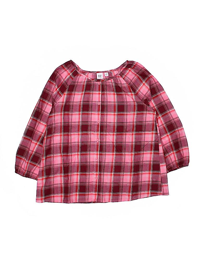 Gap Kids Girls 3/4 Sleeve Button-Down Shirt Size 2X-large (Kids)