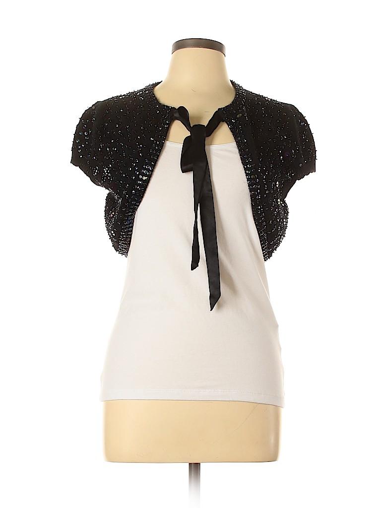 Nanette Lepore Women Wool Cardigan Size L
