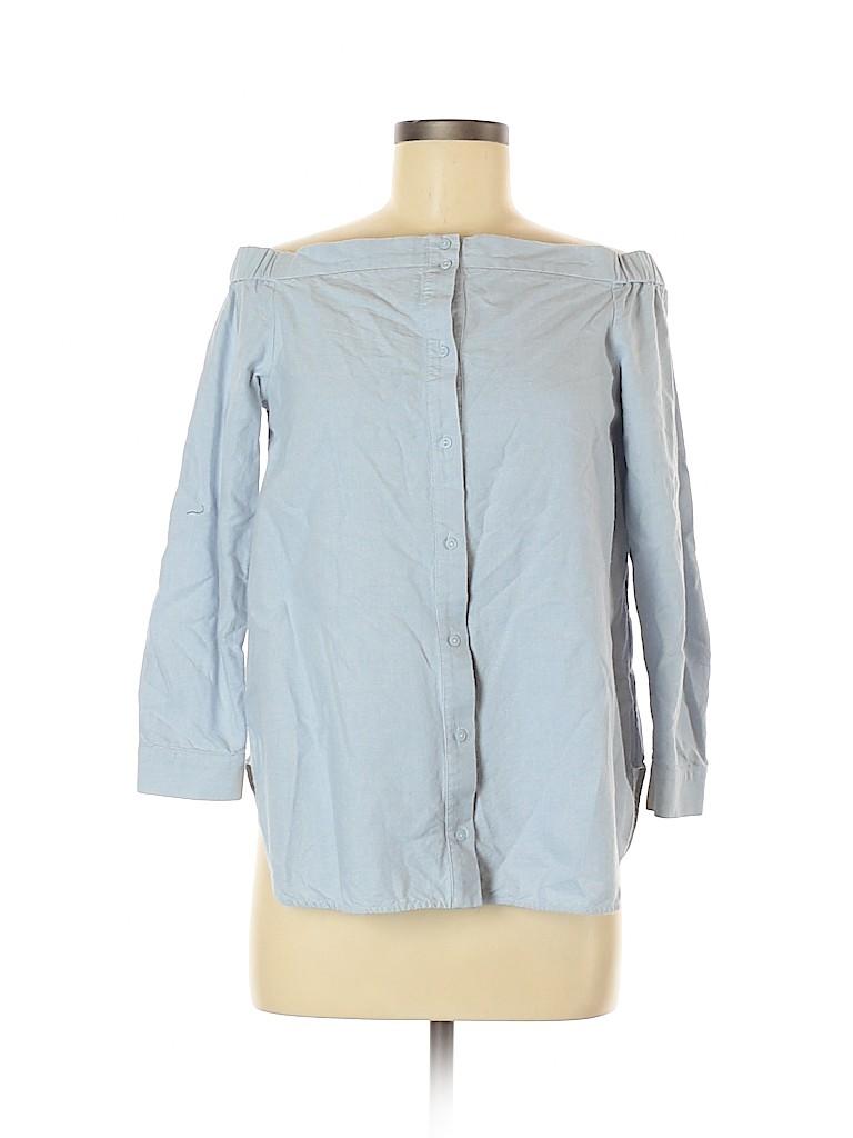 Cos Women 3/4 Sleeve Button-Down Shirt Size 6