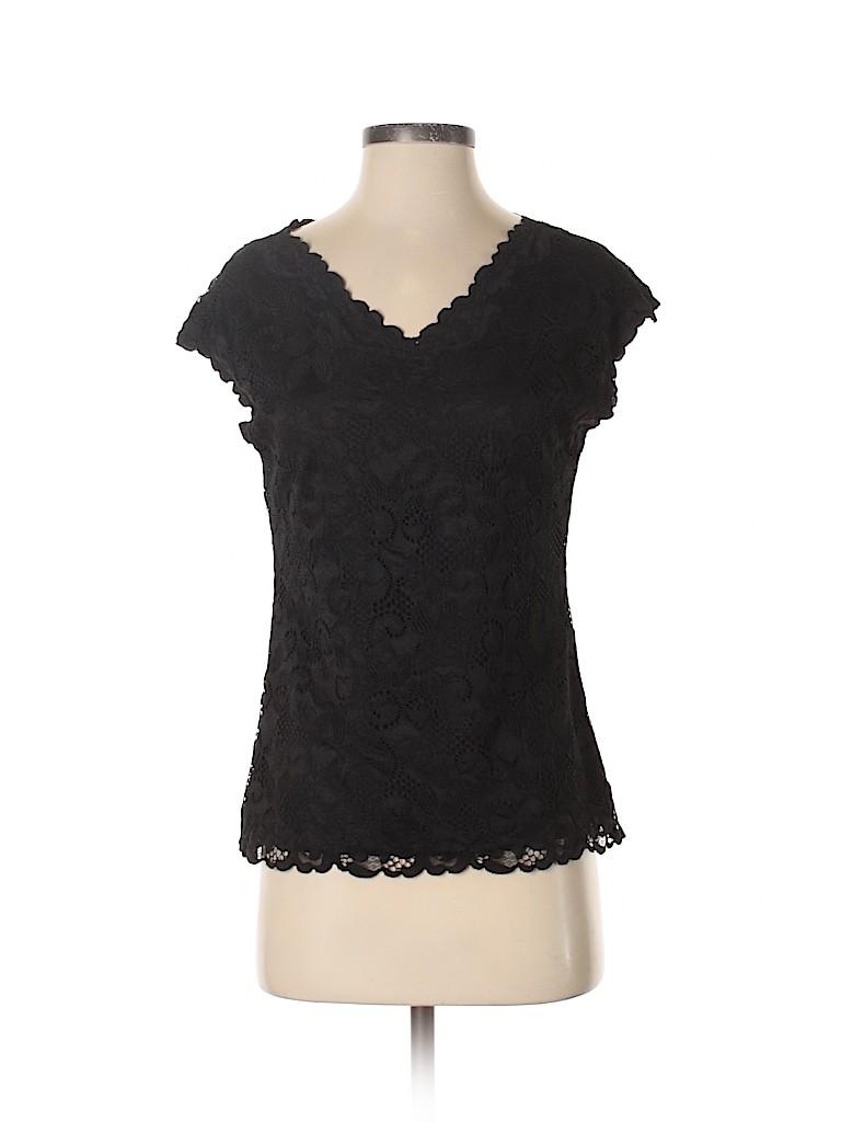 Josie Natori Women Short Sleeve Top Size S
